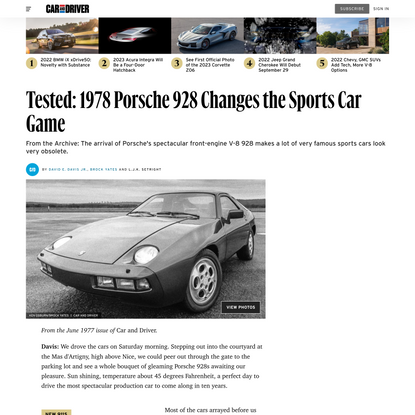 Tested: 1978 Porsche 928 Changes the Sports Car Game