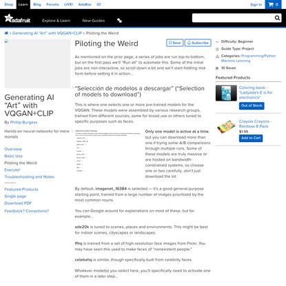 """Generating AI """"Art"""" with VQGAN+CLIP"""