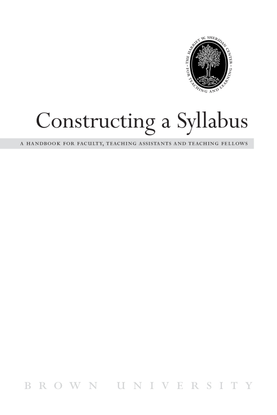 Constructing a Syllabus, Brown University