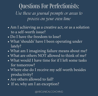For the perfectionist friends out there