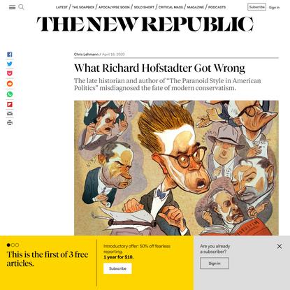 What Richard Hofstadter Got Wrong