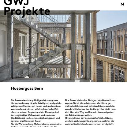 Huebergass Bern - GWJ Architektur