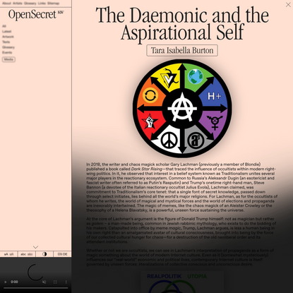 The Daemonic and the Aspirational Self – Open Secret