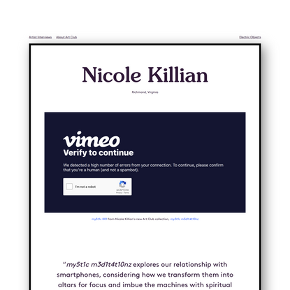 Nicole Killian - Artist Interview Series