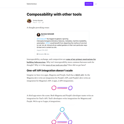 Composability with other tools