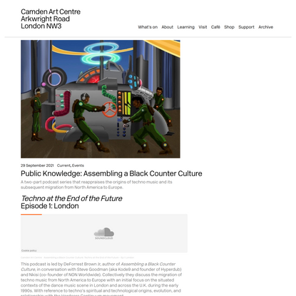 Public Knowledge: Assembling a Black Counter Culture – Camden Art Centre