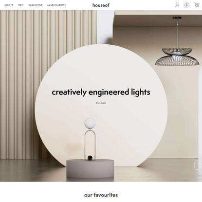 houseof.com   creatively engineered lighting