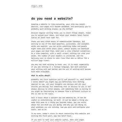 Do you need awebsite? — rgz.ee
