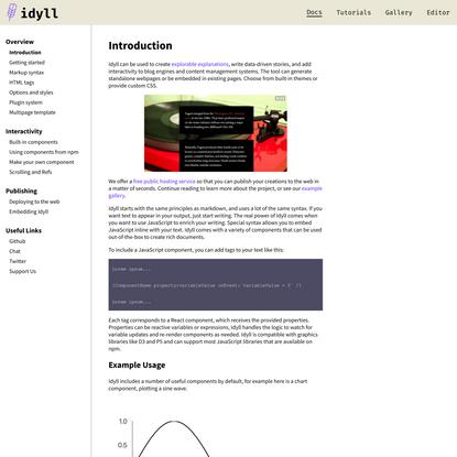 Idyll Documentation | An overview.