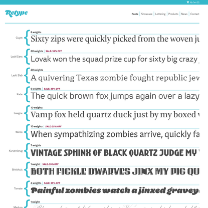 ReType Foundry   High quality fonts for print and web