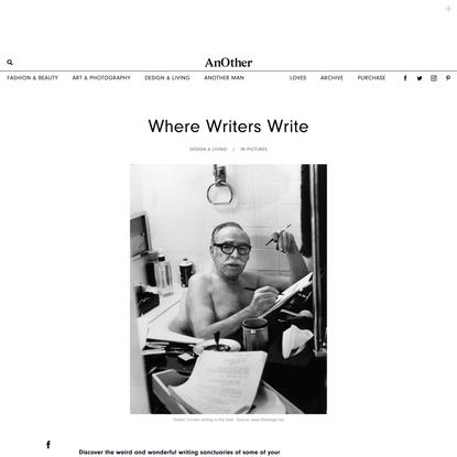 Where Writers Write