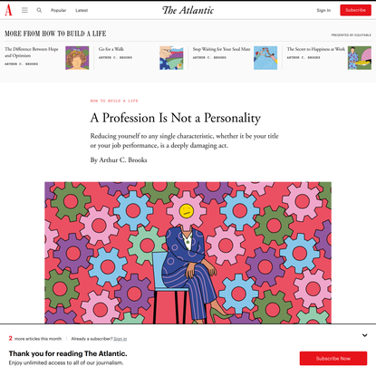 A Profession Is Not a Personality