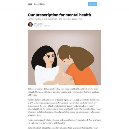 Our prescription for mental health