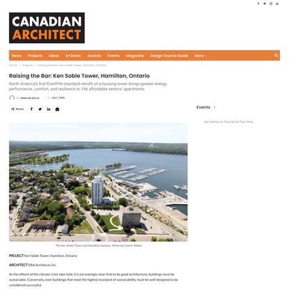 Raising the Bar: Ken Soble Tower, Hamilton, Ontario