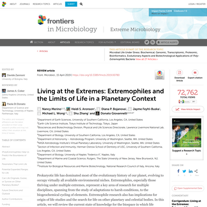 Living at the Extremes: Extremophiles and the Limits of Life in a Planetary Context