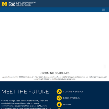 Homepage | University of Michigan School for Environment and Sustainability