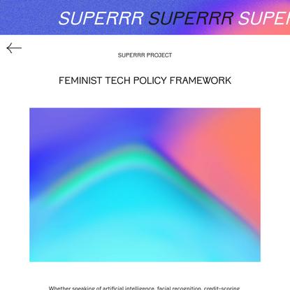 Feminist Tech Policy Framework