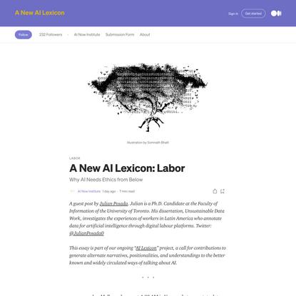 A New AI Lexicon: Labor