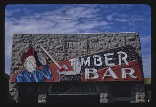 timber bar sign, big timber, montana, 1980
