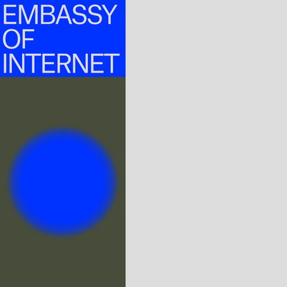 Embassy of Internet · Home