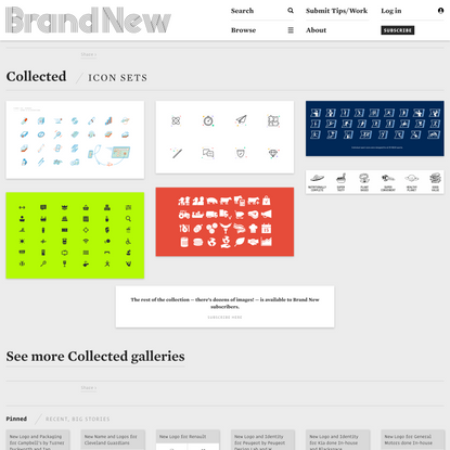 Brand New: Icon Sets