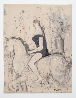 Circus Rider Henry Moore 1979 Wool warp, wool weft 207 x 162 cm / 81 1/2 x 63 3/4 in Photo: Damian Griffiths