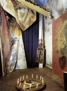 Michael Buthe, Musée du Echnaton (Afrika), 1976, installation view, the artist's studio, Cologne.