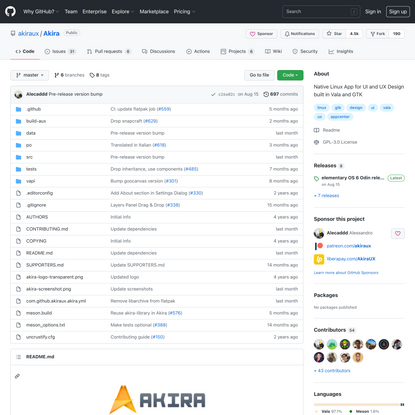 GitHub - akiraux/Akira: Native Linux App for UI and UX Design built in Vala and GTK