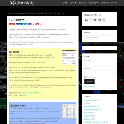 EvE software - Vahrokh Vain