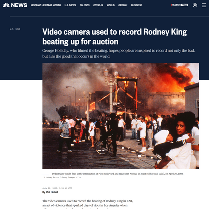 Video camera used to record Rodney King beating up for auction