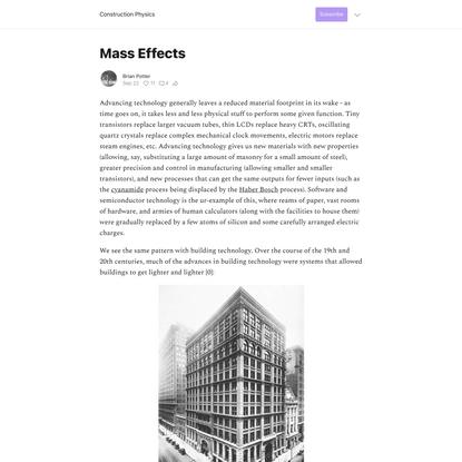 Mass Effects