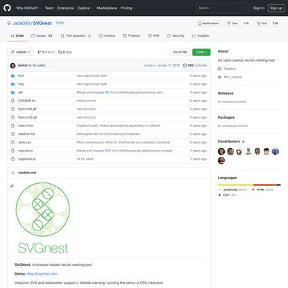 GitHub - Jack000/SVGnest: An open source vector nesting tool
