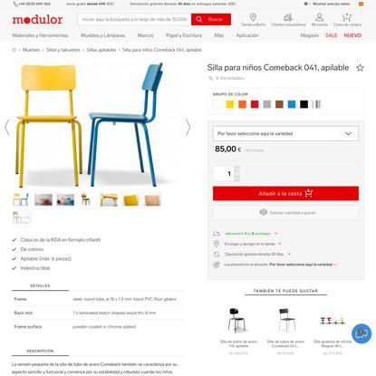 Comprar Silla para niños Comeback 041, apilable online   Modulor