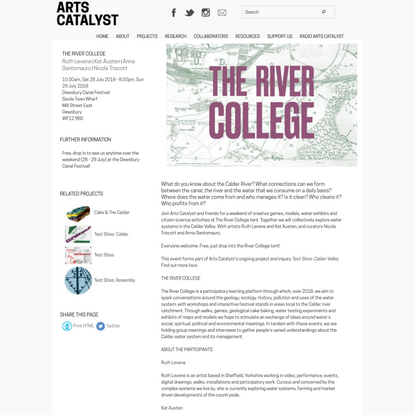 The River College   Arts Catalyst
