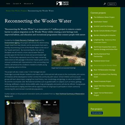 Reconnecting the Wooler Water – Tweed Forum