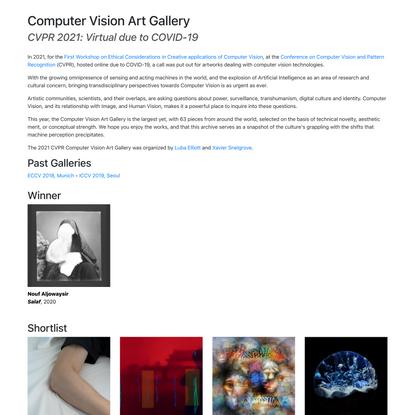 Computer Vision Art Gallery : CVPR 2021