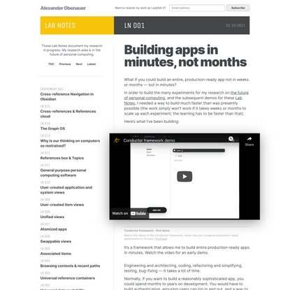 Building apps in minutes, not months