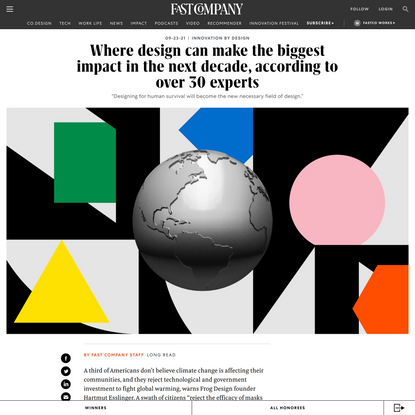 30 experts on design's biggest impact in the next decade