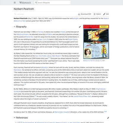 Norbert Pearlroth - Wikipedia