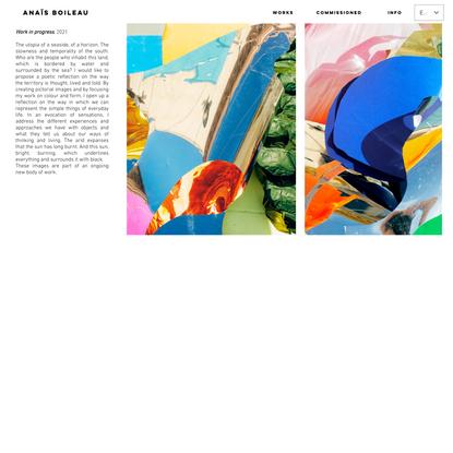 Work in progress | anaisboileau