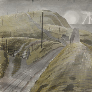 Eric William Ravilious - Bombing the Channel Ports, 1941