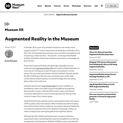 Augmented Reality in the Museum