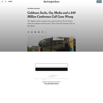 Goldman Sachs, Ozy Media and a $40 Million Conference Call Gone Wrong