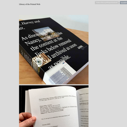 Library of the Printed Web