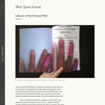 Library of the Printed Web | West Space Journal