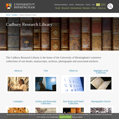 Cadbury Research Library - Special Collections - University of Birmingham