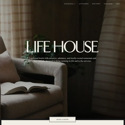 Life House - A New Kind of Hotel