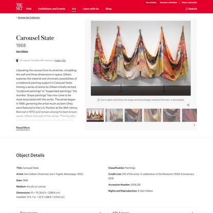 Sam Gilliam   Carousel State   The Metropolitan Museum of Art