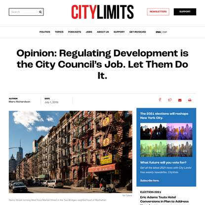 Opinion: Regulating Development is the City Council's Job. Let Them Do It.