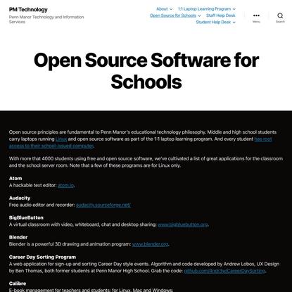 Open Source Software for Schools